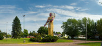 Hiawatha, World's Tallest and Largest Indian; along US 2 in Ironwood, Michigan