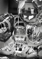 She spent months recovering in the burn unit. RT: Heather celebrates her fifth birthday in the Harborview Burn Center.
