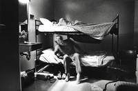 The bunk room, where on-call staffers try to catch some precious sleep between crises.