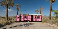 Pink Trailer along the Salton Sea